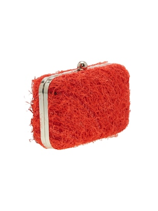 red leatherette  regular clutch - 14159531 - Standard Image - 4