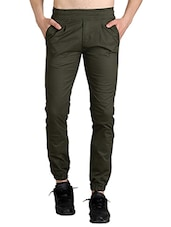 green cotton joggers -  online shopping for Joggers