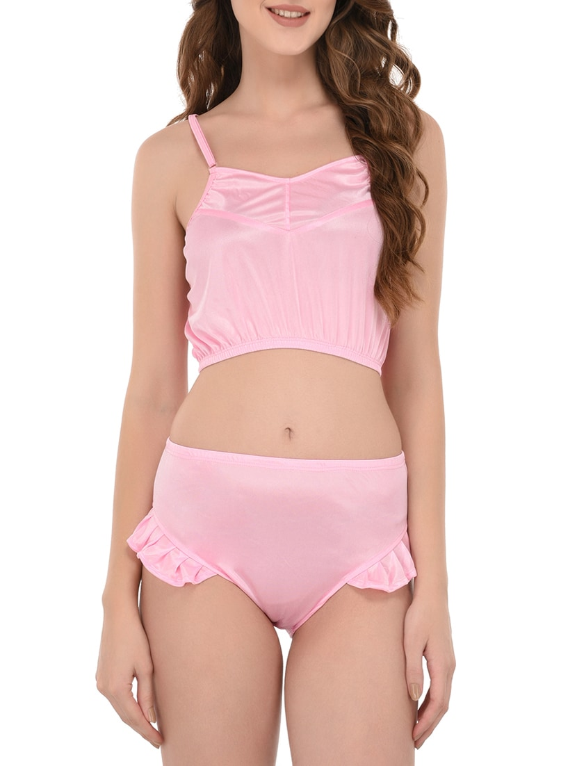 962a5d4896 Buy Pink Satin Bras And Panty Set by You Forever - Online shopping for Bras  And Panty Set in India