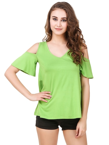 Buy White Cold Shoulder Top by Kazo - Online shopping for Tops in ... fe3c9f79c