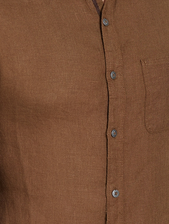 a1c8701cf7b Buy Brown Linen Casual Shirt for Men from Spykar for ₹1456 at 47 ...