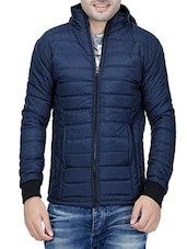 navy blue polyester casual jacket -  online shopping for Casual Jacket