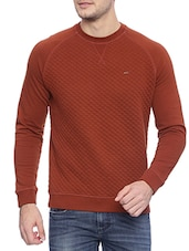 solid brown cotton sweatshirt -  online shopping for Sweatshirts