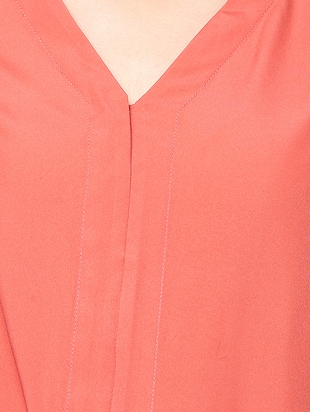 peach poly crepe top - 14191105 - Standard Image - 4