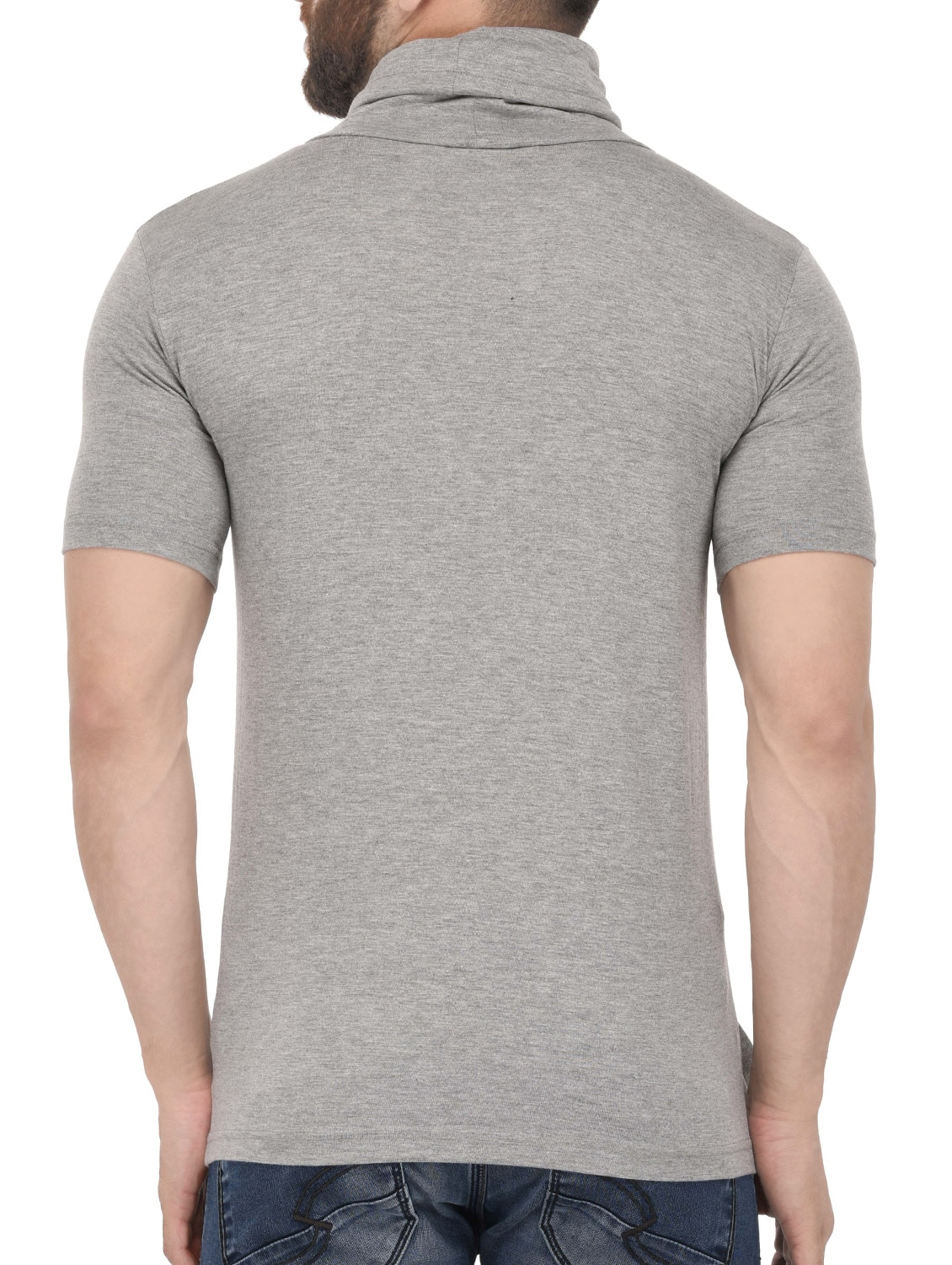 06441a01325 Buy Grey Cotton T-shirt by Tinted - Online shopping for T-shirts in India
