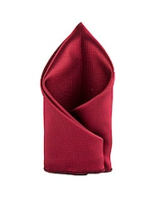 maroon polyester pocket square -  online shopping for pocketsquares