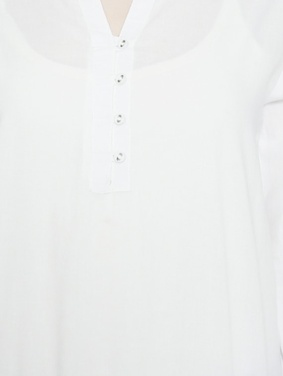 85a601916d551a Buy White Cotton Blouson Top for Women from People for ₹473 at 21% off |  2019 Limeroad.com