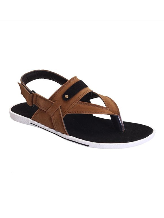 c59346cc3 Buy Brown Suede Back Strap Sandal for Men from Shoegaro for ₹579 at 42% off