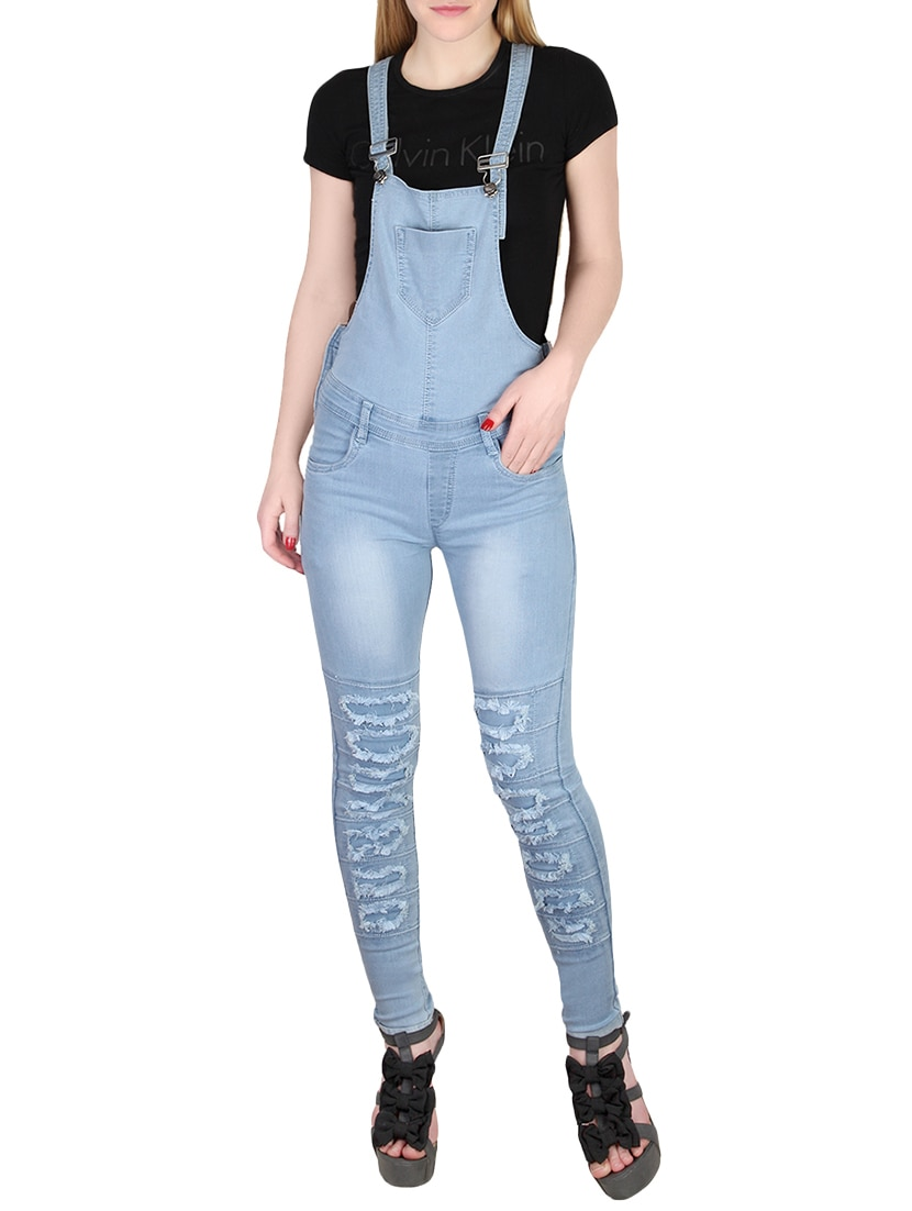 78684fd67e3 Buy Stone Washed Distressed Dungaree for Women from Broadstar for ₹1022 at  59% off