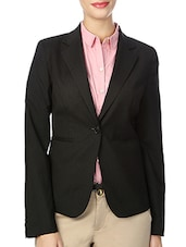 black striped cotton formal blazer -  online shopping for Blazers