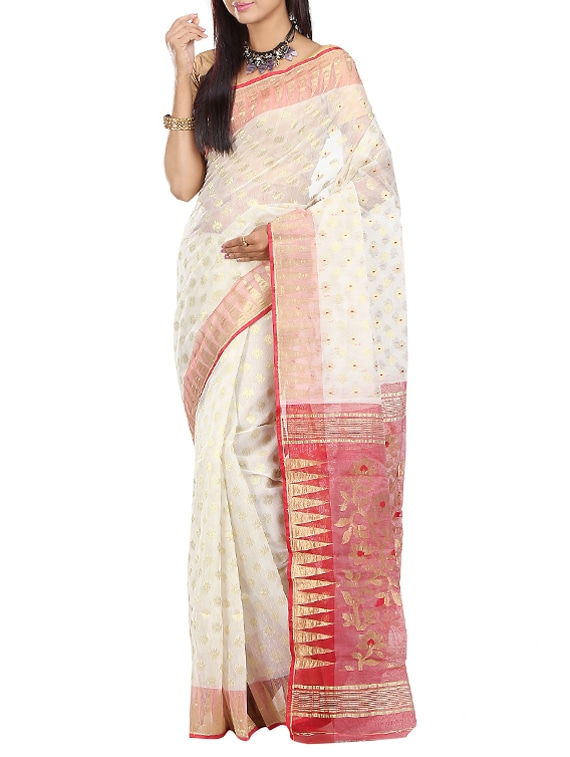 3c529c34c7 Buy Bengal Hand Woven Jamdani Saree for Women from Tant Kolkata for ₹3341  at 55% off | 2019 Limeroad.com