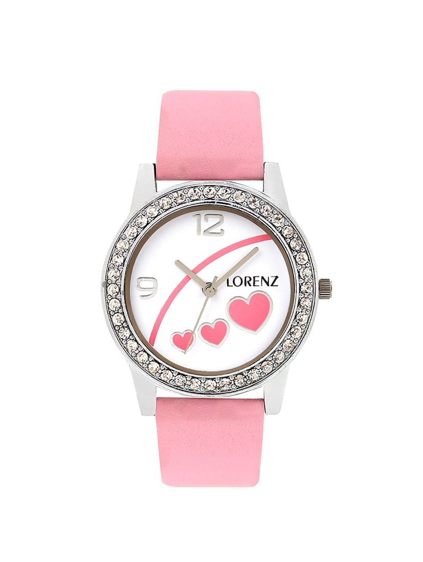 353feab4483 Buy Lorenz As-5 New Baby Pink Heart Shape Casual Analog Watch For Women And  Girls for Women from Lorenz for ₹343 at 77% off