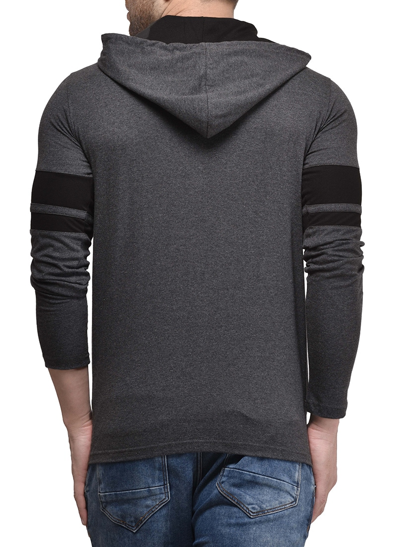 9f59f042e7e Buy Grey Solid Hooded T-shirt for Men from Kay Dee for ₹358 at 70% off