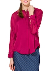solid  pink casual top -  online shopping for Tops