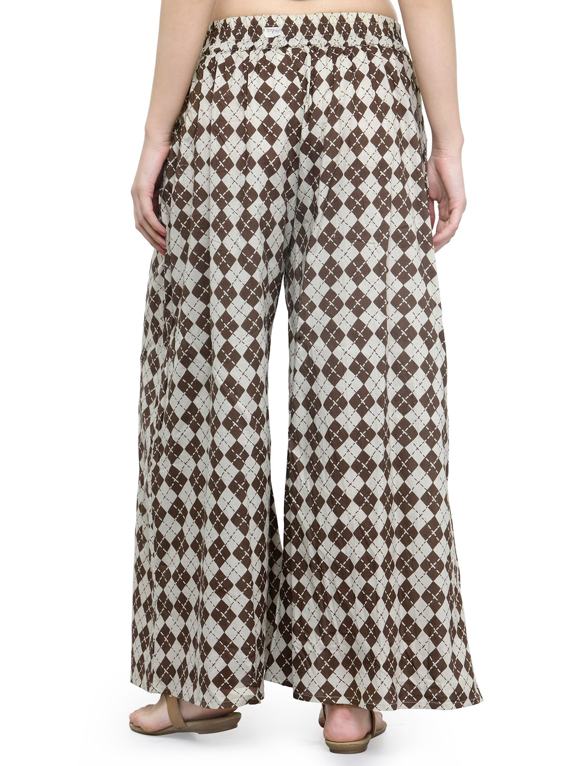 436944699d Buy Brown Checkered Cotton Palazzo for Women from Natty India for ₹994 at  60% off | 2019 Limeroad.com