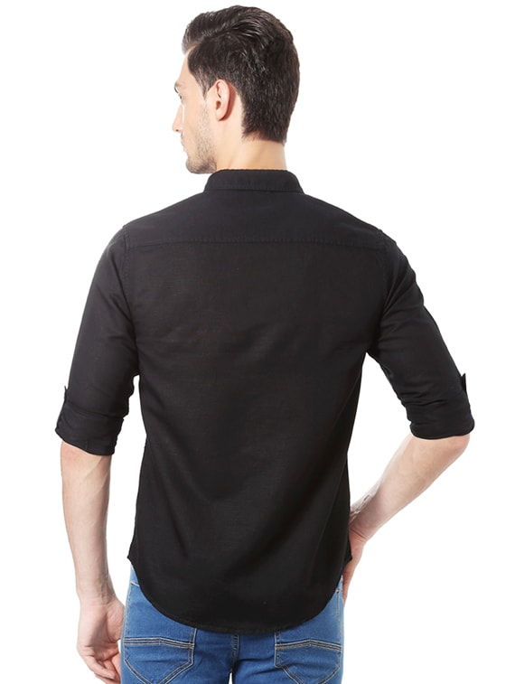 4ae0493aca8 Buy Black Cotton Blend Casual Shirt for Men from People for ₹712 at 38% off