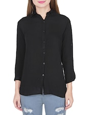 black rayon casual shirt -  online shopping for Shirts