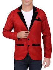 red khadi cotton casual blazer -  online shopping for Casual Blazer