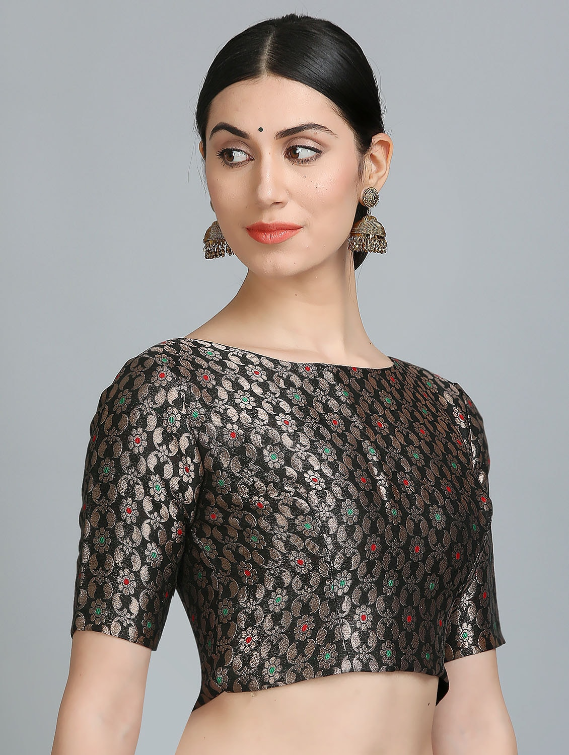 2c1407aa66cce Buy Kaanchie Nanggia Black Brocade Stitched Blouse for Women from Kaanchie  Nanggia for ₹1975 at 21% off