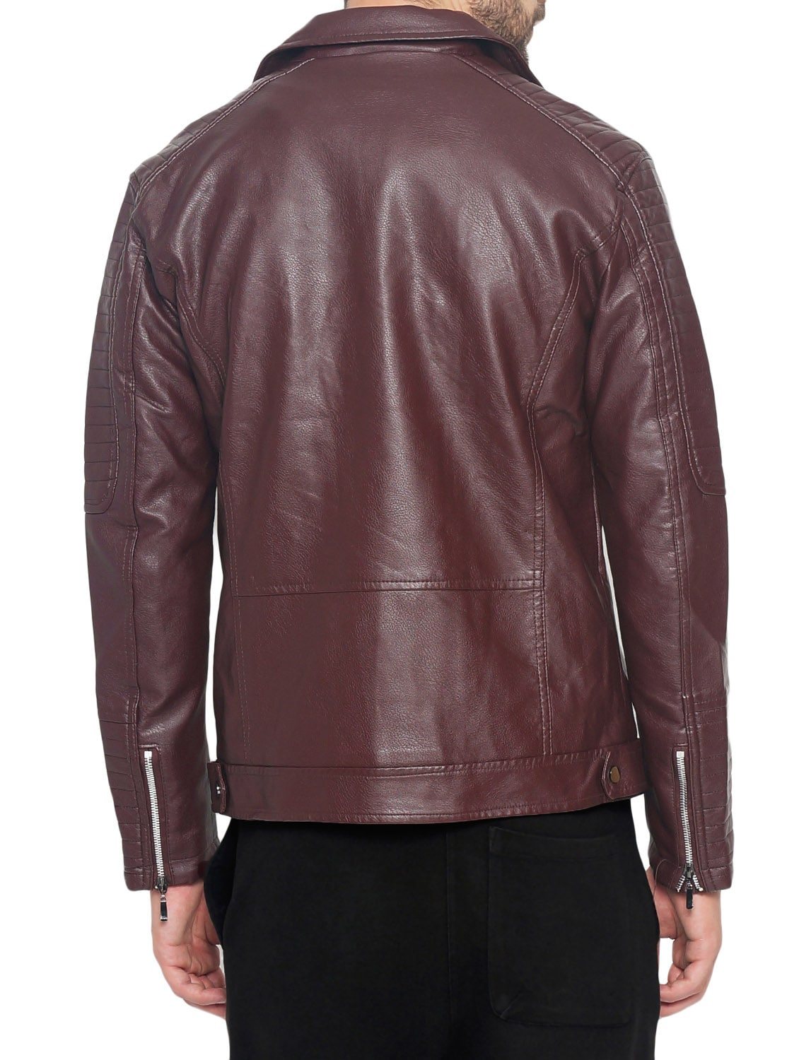 d473c591b6e3f Buy Red Faux Leather Biker Jacket for Men from The Indian Garage Co for  ₹2832 at 37% off