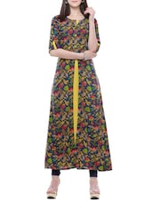 multicolored viscose a-line kurta -  online shopping for kurtas