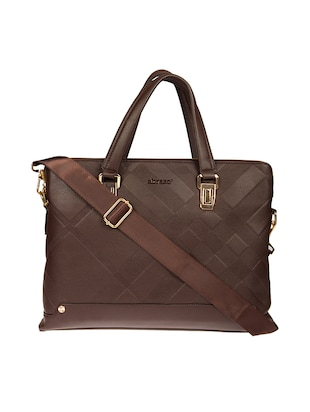 brown leatherette laptop bag -  online shopping for Laptop bags