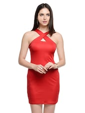solid red bodycon dress -  online shopping for Dresses