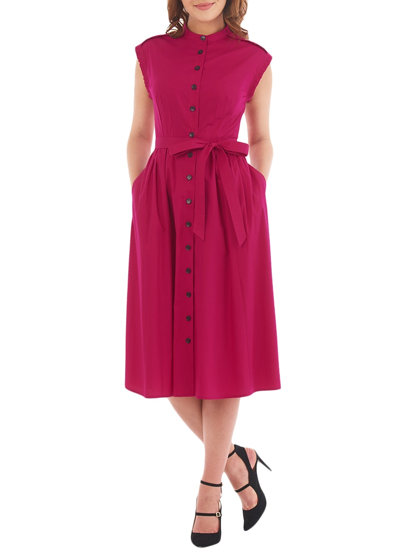 I Wear My Style Pink Polyester Solid Dress By Online Ping For Dresses In India 14266171