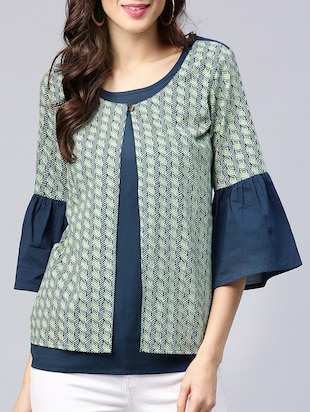faa6c95fbe541 navy blue cotton casual top