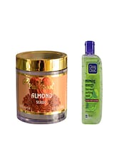 Pink Root Almond Scrub (100gm) With Clean & Clear Morning Energy Face Wash Purifying Apple (100ml) Pack Of 2 - By