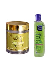 Pink Root Olive Butter Cream (100gm) With Clean & Clear Morning Energy Face Wash Purifying Apple (100ml) Pack Of 2 - By