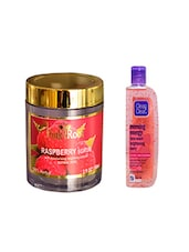 Pink Root Raspberry Scrub (100gm) With Clean & Clear Morning Energy Face Wash Brightening Berry (100ml) Pack Of 2 - By