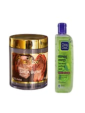 Pink Root Feather Touch SHEA Butter Cream (100gm) With Clean & Clear Morning Energy Face Wash Purifying Apple (100ml) Pack Of 2 - By