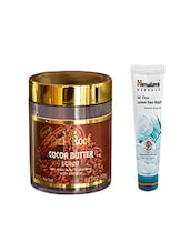 Pink Root Cocoa Butter Scrub (100gm) With Himalaya Oil Clear Lemon Face Wash (100ml) Pack Of 2 - By