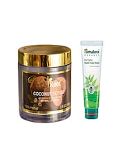 Pink Root Coconut Scrub (100gm) With Himalaya Purifying Neem Face Wash (100ml) Pack Of 2 - By