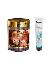 Pink Root Feather Touch SHEA Butter Cream (100gm) With Himalaya Oil Clear Lemon Face Wash (100ml) Pack Of 2 - By