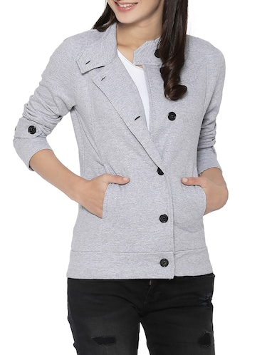 grey cotton jacket - 14320451 - Standard Image - 1