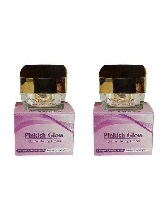 Pinkish Glow Skin Whitening Cream With Kojic And Vitamins 2 Pack - By