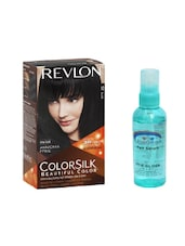 Pink Root Hair Serum (100ml) With Revlon Colorsilk Hair Color With 3D Color Technology Black 10 Pack Of 2 - By