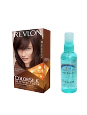 Pink Root Hair Serum (100ml) With Revlon Colorsilk Hair Color With 3D Color Technology Dark Mahogany Brown 32 Pack Of 2 - By