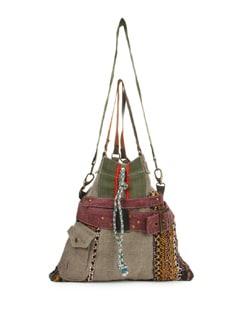Green And Grey Boho Chic Bag - The House Of Tara