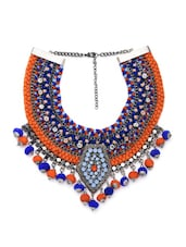 Multi Cotton Blend Collar Necklace - By