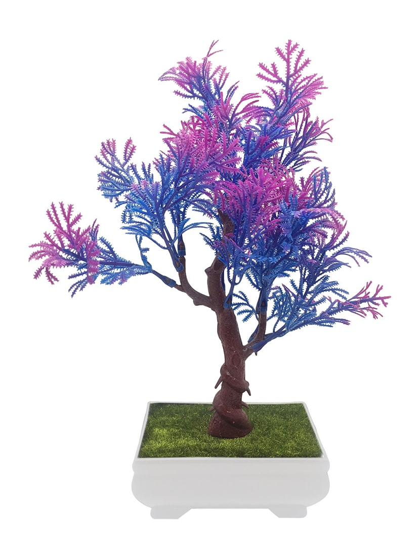 Buy artificial bonsai tree with blue and purple leaves by random buy artificial bonsai tree with blue and purple leaves by random flowers online shopping for indoor plants in india 14344253 izmirmasajfo
