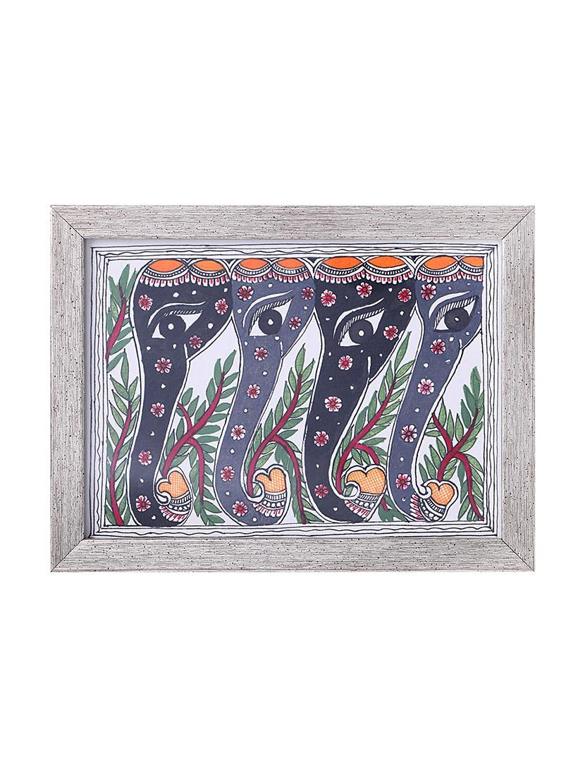 Buy Madhubani Handmade Painting Wooden Glass Frame by Imithila ...