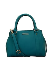 blue leatherette  regular handbag -  online shopping for handbags