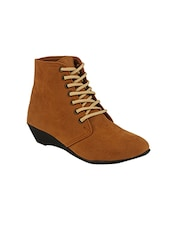 tan synthetic  ankle boot -  online shopping for boots
