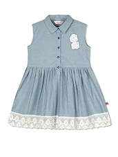 blue cotton frock -  online shopping for frocks