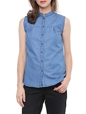 blue denim casual shirt -  online shopping for Shirts