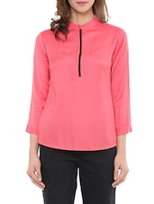 pink crepe casual top -  online shopping for Tops