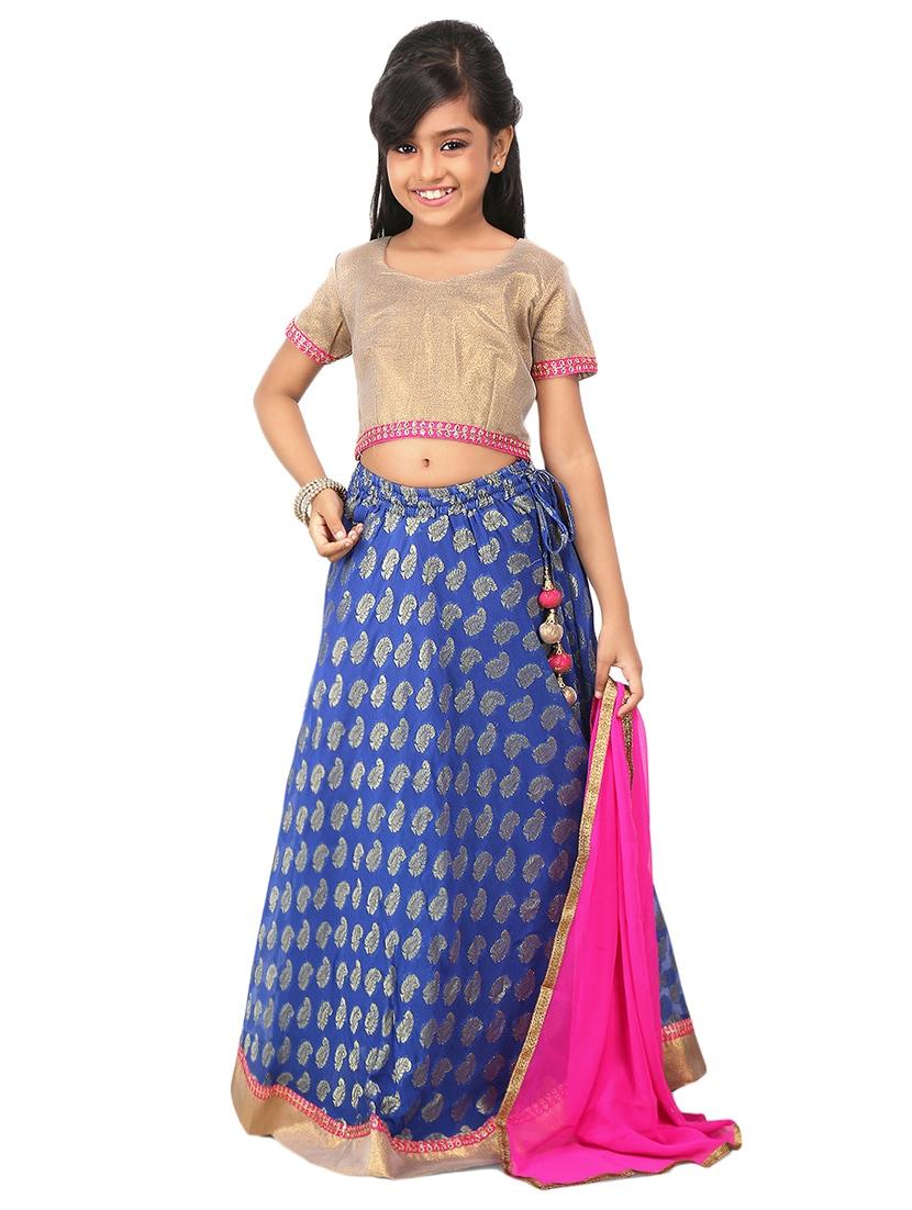 693c5df084 Blue Silk Blend Lehnga Choli